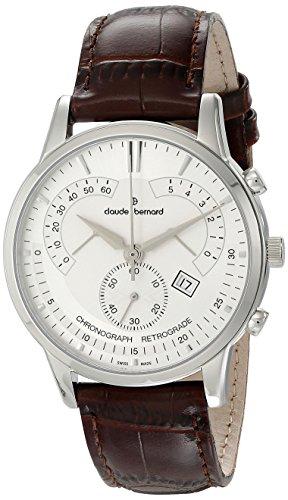 Claude Bernard Men's 01506 3 AIN Classic Chronograph Analog Display Swiss Quartz Brown Watch