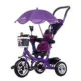 Qianle Kids Steer Tricycle Ride On Tribike Purple