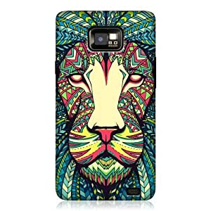 AIYAYA Samsung Case Designs Lion Aztec Animal Faces Hard Back Case Cover For Samsung Galaxy S2 II I9100