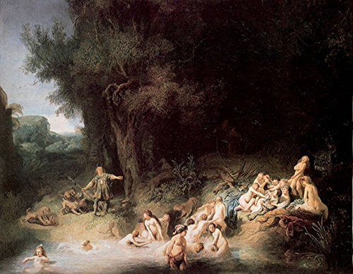 Rembrandt Van Rijn - Bath of Diana with Nymphs and Story of Actaeon and Calisto - Private Collection 30