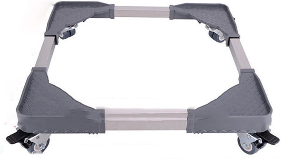 Marco Universal de la Lavadora de XXGI Rueda Universal móvil Altura de la Bandeja del Soporte del Acero Inoxidable (los 12Cm) Extensión Universal automática