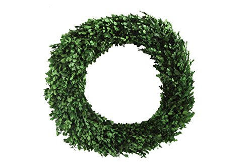 Wreath Finial - Creative Co-op DA5560 Round Boxwood Wreath, 21.5 Inch