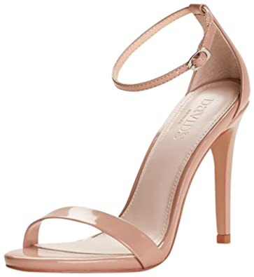 David s Bridal Patent High Heel Sandals with Ankle Strap Style Larissa