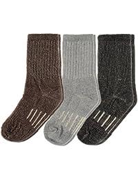 3 Pairs Thermal 60% Kids Merino Wool Socks: Thermal Socks, Crew Socks, Hiking Socks for Winter, Boys and Girls