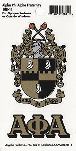 Alpha Phi Alpha Fraternity Crest Sticker (Sticker Crest)