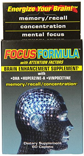Windmill Health Products Focus Formula Brain Enhancement Supplement Caplets, 60-Count Boxes (Pack of 2)