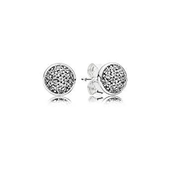 2e06be571 Image Unavailable. Image not available for. Color: Pandora Dazzling  Droplets Silver Stud Earrings 290726CZ