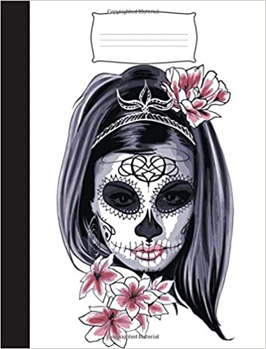 60e562df1602e Sugar Skulls: Skull Composition Book: Female Dia De Los Muertos Sugar Skull  Notebook. Lined Exercise Book: Creative Expression Publishing:  9781722611095: ...
