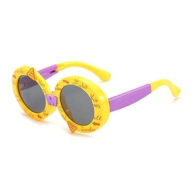 Wang-RX Niños Gafas de sol plegables polarizadas redondas ...