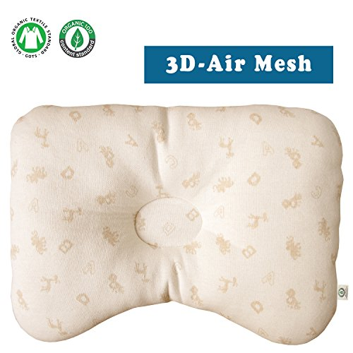 Organic Cotton Baby Protective Pillow (Basic Animal Friends (3D Air Mesh)) ()