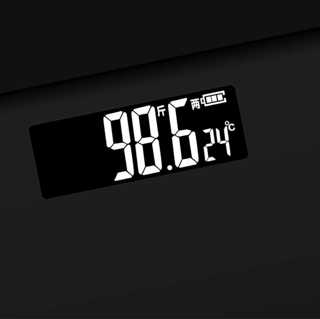 Digital Scales,Mini Weight Scale Glass Electronic Weighing Human Health Electronic Scale scales (Color : Black+rose gold) Black+gray