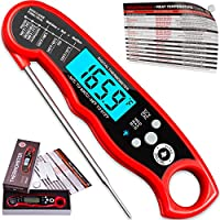 Alpha Grillers Instant Read Meat Thermometer for Grill and Cooking. Best Waterproof Ultra Fast Thermometer with Backlight...