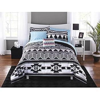 Amazon Com 8 Piece Grey Yellow Southwest Comforter Queen