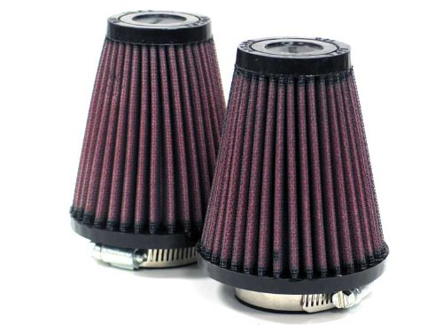 K&N R-1082 Universal Clamp-On Air Filter: Round Tapered; 1.687 in (43 mm) Flange ID; 4 in (102 mm) Height; 3.5 in (89 mm) Base; 2 in (51 mm) Top