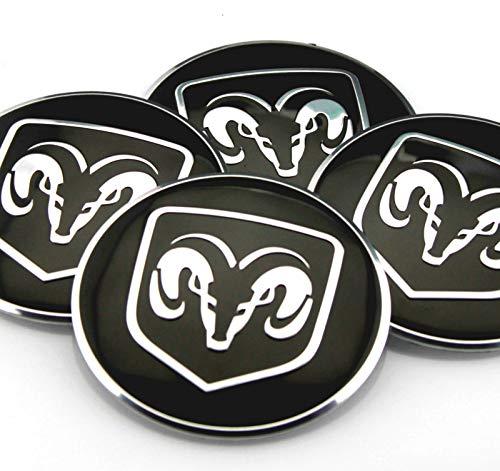 4x 56mm 2 2 Car Wheel Center Hub Cap Emblem Badge Decal Sticker For Dodge Challenger Charger Dakota Attitude Avenger Journey