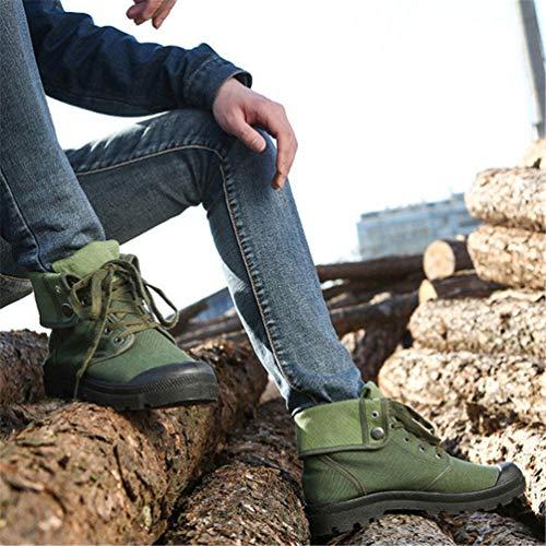 di Moda Uomini Verde Tela Inverno Autunno Confortevoli Stivali Alto alla Caviglia Stivali Sneakers qRXd7Twx5d