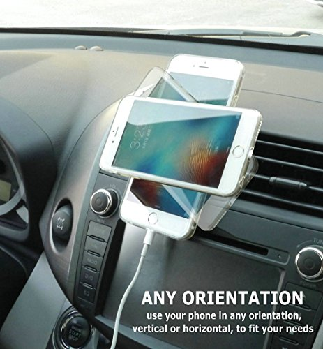 Air Vent Car Mount Cell Phone Holder JEBSENS CA02 Magnetic Air Vent Car Mount Portable Universal Car GPS Smartphone Holder Mount Apple IPhone 6 6 PLUS 55 3 Metal Plates Protection Film