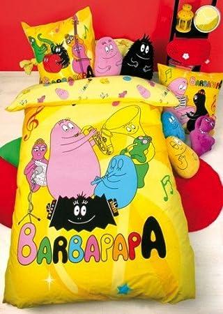Parure Lit Housse Couette Barbapapa Music 100 Coton 1pers Amazon