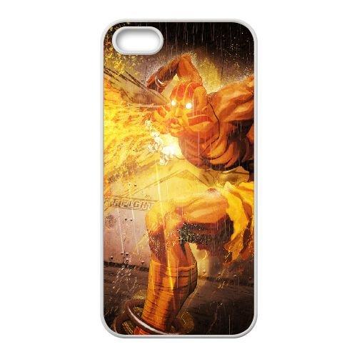 Street Fighter X Tekken, Dhalsim, Magic, Fire coque iPhone 4 4s cellulaire cas coque de téléphone cas blanche couverture de téléphone portable EEECBCAAN04439