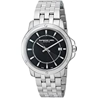 Raymond Weil Tango Black Dial Stainless Steel 39 mm Men's Watch