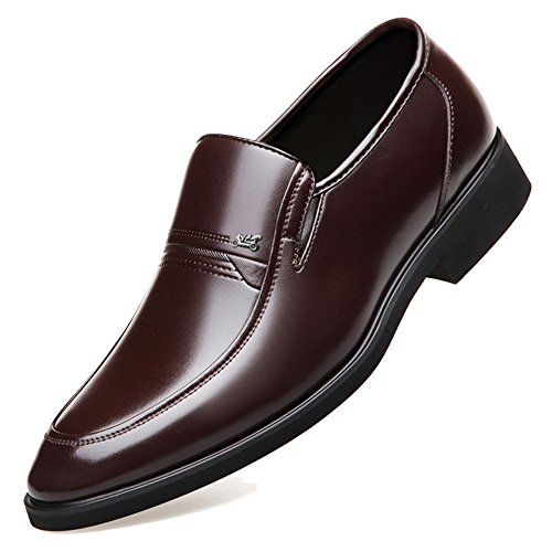DeLamode Men Old People Leather Shoes Business Foot Sapatos Father Gifts Brown-38 by DeLamode (Image #2)