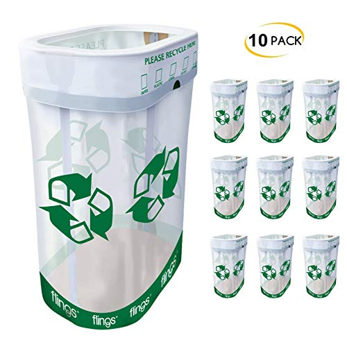Trashco Flings Bins POP UP Recycle Bins - 10 Pack