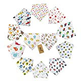 iZiv(TM) 12 PACK Baby Bandana Drool Bibs with Adjustable Snaps, Soft Lining 0-2 Years (Color-2)