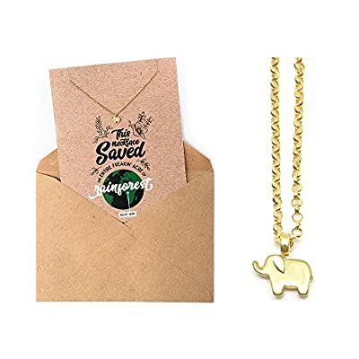 """Tiny Elephant Necklace 14"""" With 2"""" Extender 14K Gold Plated Made in America supplier"""