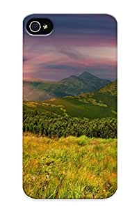 D433b521050 Tpu Case Skin Protector For Iphone 5/5s Mountains Slope Trees Field Grass With Nice Appearance For Lovers Gifts