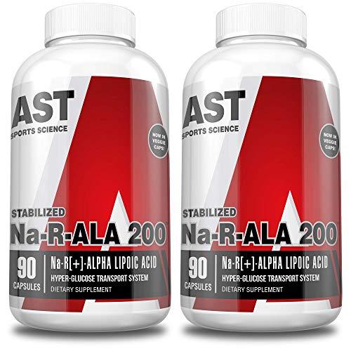 AST Sports Science Na-RALA 200 R[+]-Alpha Lipoic Acid Capsules 180 Capsules of Extra-Strength Stabilized Na-RALA (2-Pack)