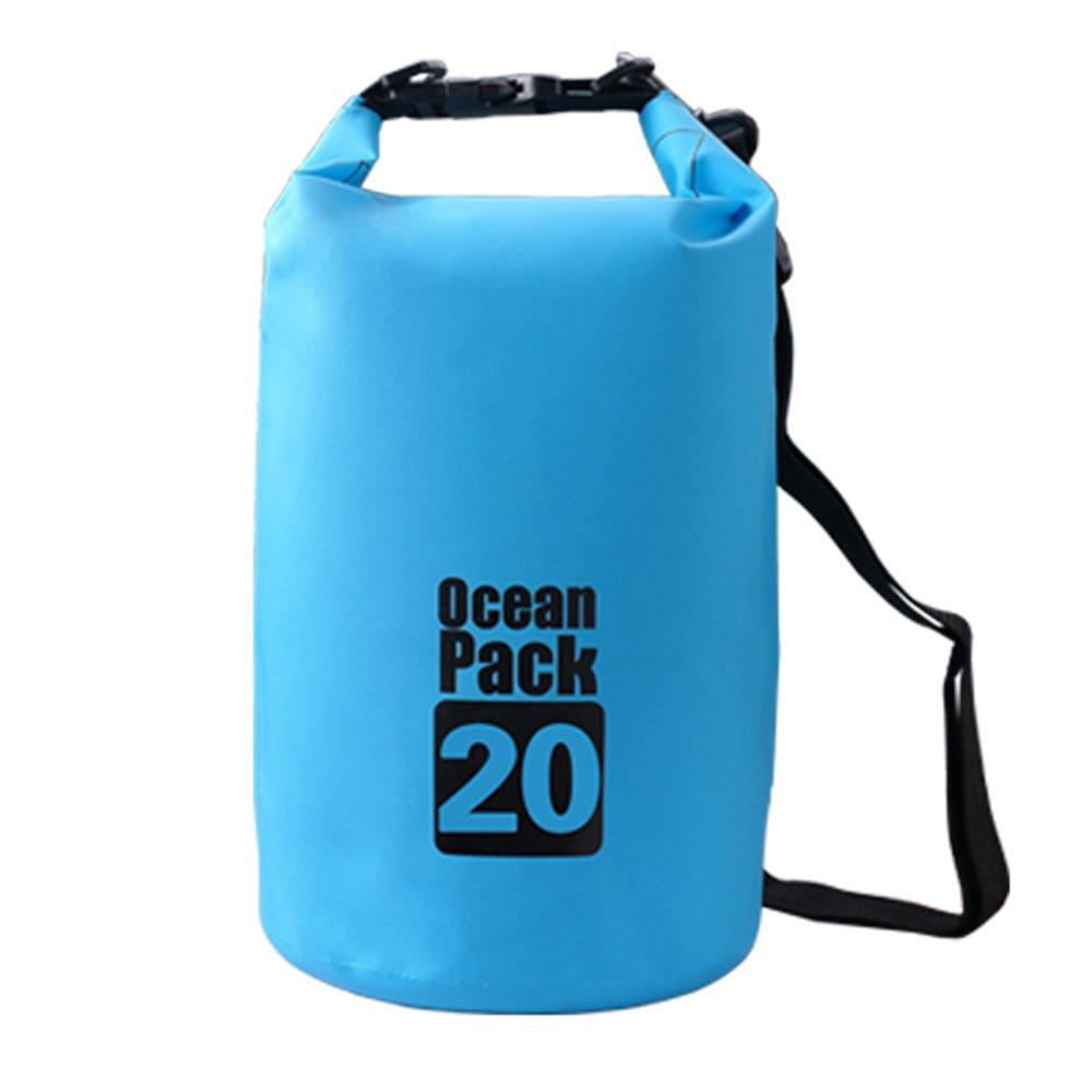 Bear Outdoor Dry Sack/Waterproof Bag for Boating, Kayaking, Hiking, Snowboarding, Camping, Rafting, Fishing and Backpacking 20L Blue