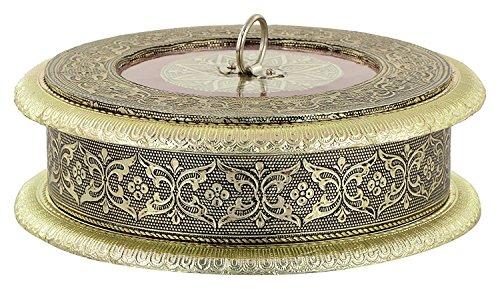 RAJKRUTI Handicraft Dry Fruit Serving Box ,Mouth Freshner Box, Serving Tray, Decorative Platter, Festive Decor , Wedding Gifts , Decorative Items Serving Tray Gift Box