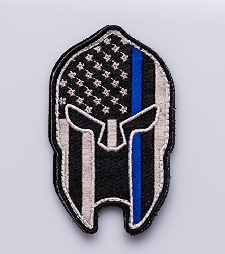 Thin-Blue-Line-Spartan-Velcro-Police-Morale-Patch