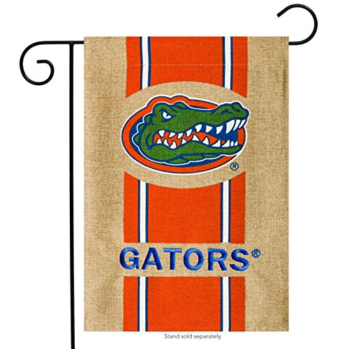 Fans With Pride Florida Gators Official NCAA 12.5 inch x 18 inch Team Burlap Garden Flag by Evergreen