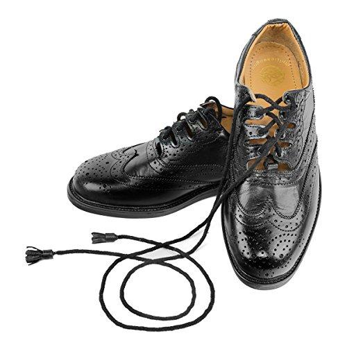 Mens Scottish Leather Ghillie Brogues, Kilt Shoes Sizes 7
