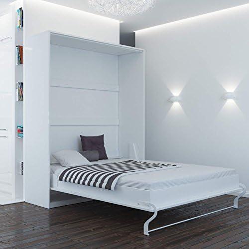Smart Armario cama 160 cm Vertical Blanco comodidad somier ...