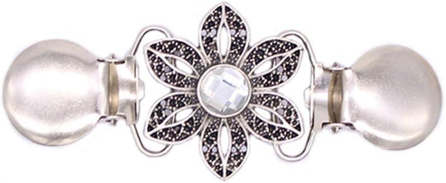 Ogquaton /Clip de cristal Cardigan chandail femmes robes clips ch/âle pratique et populaire
