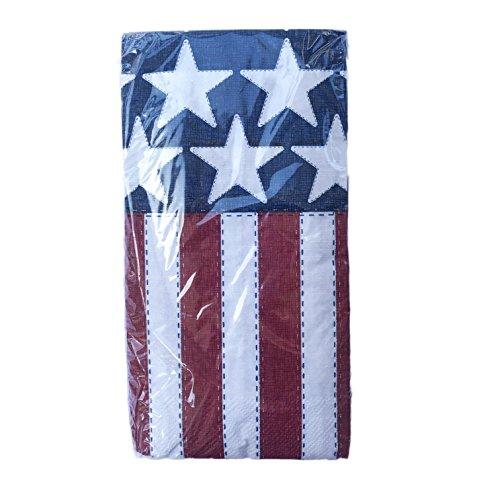 Patriotic Stars & Stripes American Flag Theme 16 Guest Towel Hand - Napkins Blue Guest