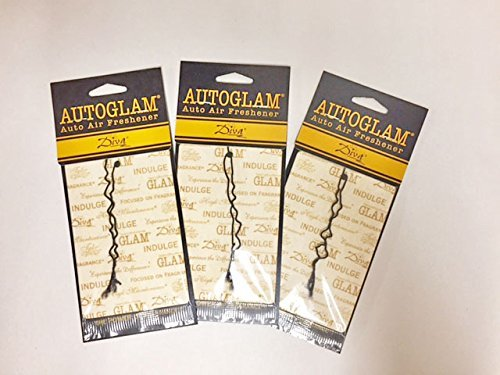 Tyler Candles Autoglam Auto Air Freshener, Diva, Set of 3 ()