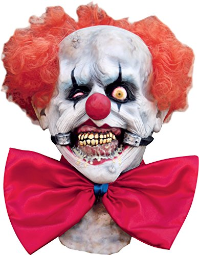 Ghoulish Men's Horror Circus Smiley Killer Clown Latex Halloween Costume Mask -