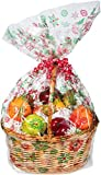 Creative Converting Large Cello Basket Bag, Colored Snowflakes - Best Reviews Guide