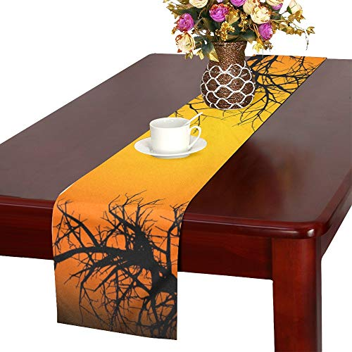 AIKENING Halloween Ipad Wallpaper for Ipad Ipad Air R Table Runner, Kitchen Dining Table Runner 16 X 72 Inch for Dinner Parties, Events, -