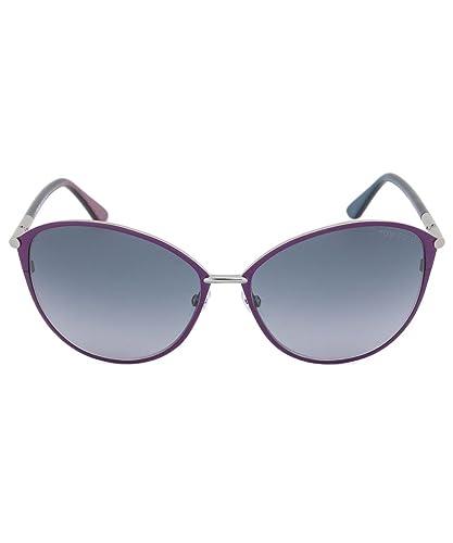 00f8f1bc88 Tom Ford TF 320 14B Penelope Purple   Grey Sunglasses  Amazon.co.uk   Clothing