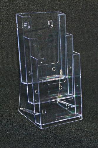 "UPC 789545647023, Signworld 3 Pocket Tri-fold Brochure Holder 4"" X 9"""