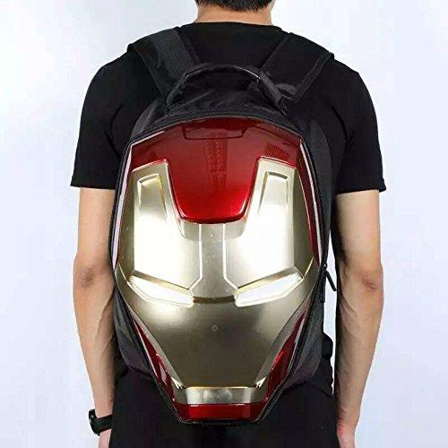 Marvel 3D Hardshell Backpack (Iron Man (LED Light)) by Mtime (Image #8)