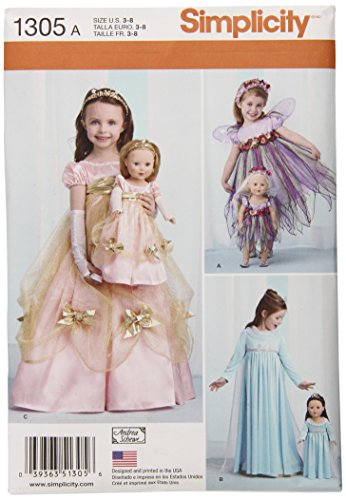 Fairy Doll Pattern (SIMPLICITY US1305A Child's and Doll's Costumes Sewing Template)