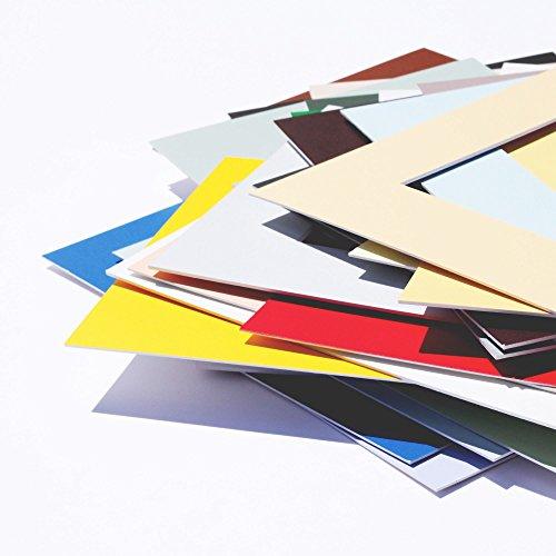 Premium Passepartouts in Museumsqualität - 34 Farben in allen Größen - Anthrazit (Farbe) - (Außen: 24x30 / für Bildgröße: 15x20)