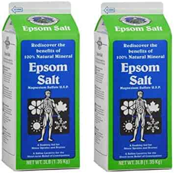 White Mountain White Mountain Epsom Salt Containers, 3 lb, 2 Pack