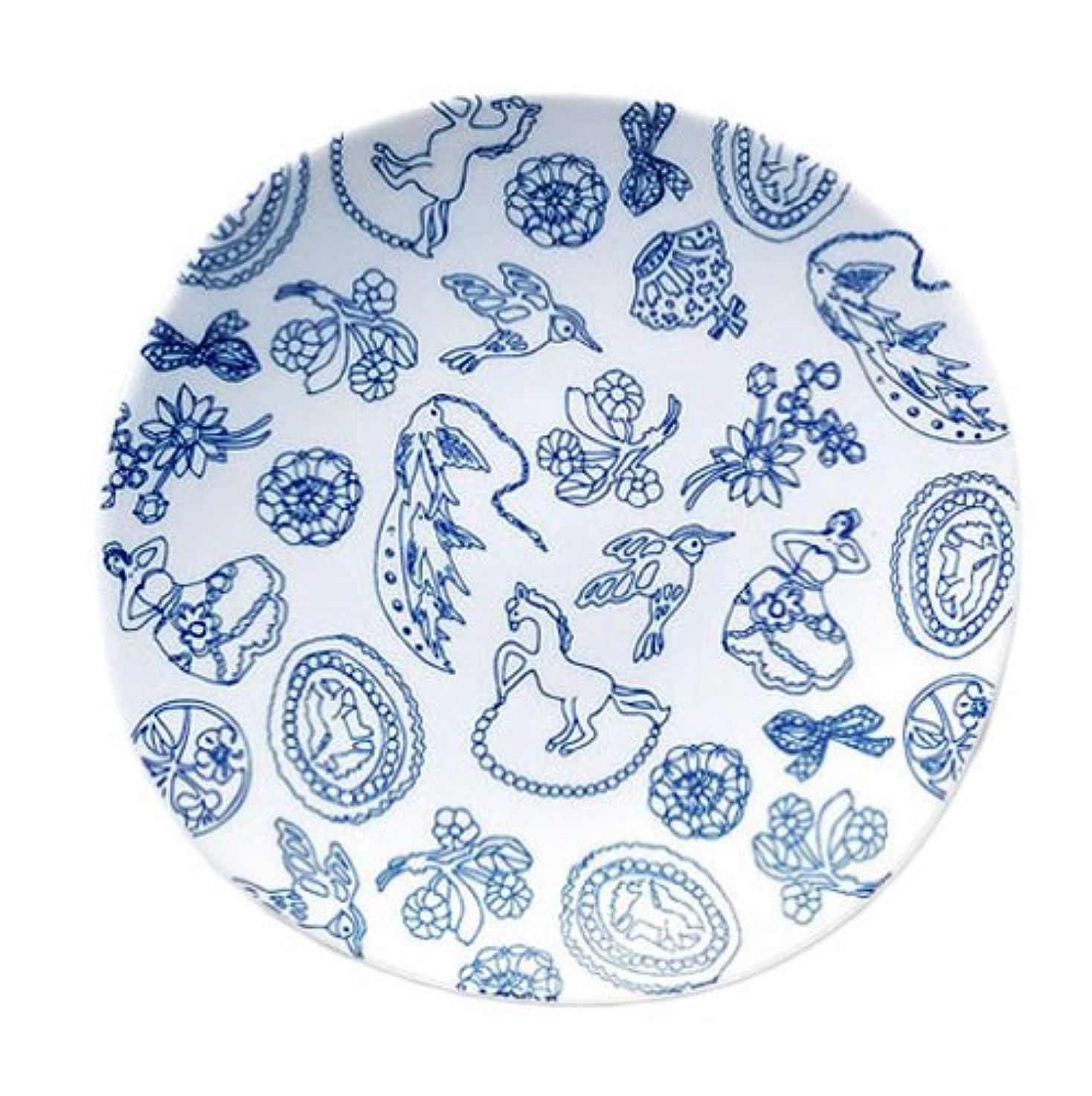 女の子祭司やむを得ない西海陶器 染付幾何紋