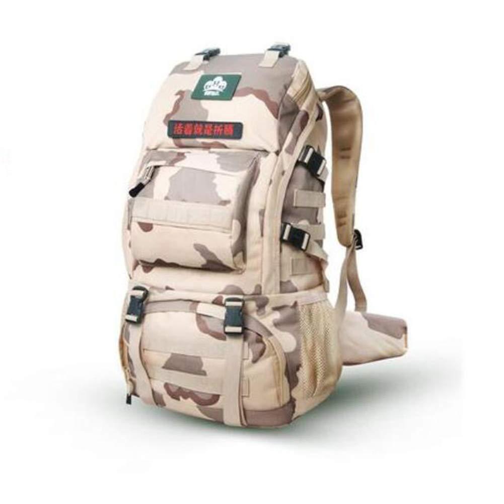 FH アウトドア登山バッグバックパック防水旅行ハイキングバッグ女性大容量 (Color : Camouflage)  Camouflage B07G5Z62SS